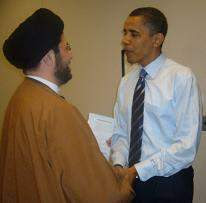 Obama in the act of appeasing.
