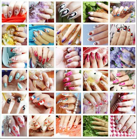 Easy nail art design for short nails
