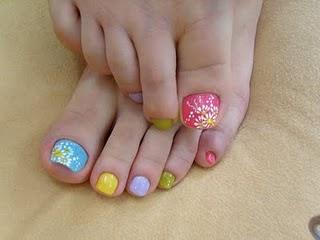 Fashion world nail art fashion 3d beautiful colors and flower toe nail art design prinsesfo Image collections