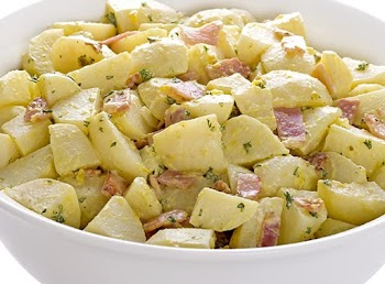 Πατάτες Φούρνου με Μπέικον και Μουστάρδα