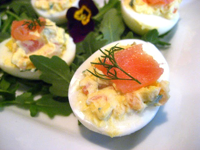 Stacey Snacks: Smoked Salmon Deviled Eggs