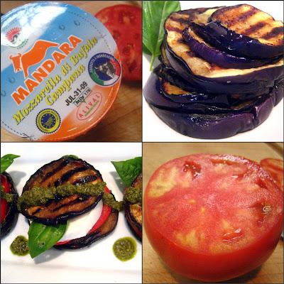 Stacey Snacks: Grilled Eggplant Caprese Stacks