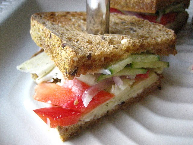 ... usual leftover turkey sandwich tuna or pbj but a vegetable sandwich