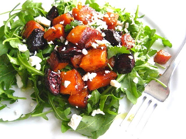 roasted sweet potatoes beets peel your sweet potatoes and cut