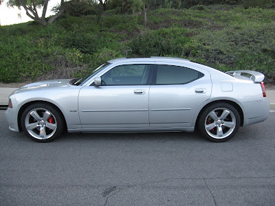 2006 Dodge Charger SRT8. Sold. 30kmi. Silver on Black/Grey Leather Interior.