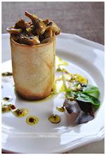 ensalada tibia de foie y champiñones