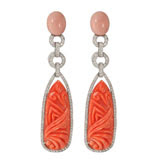 Dana's Coral & Diamond Dangles