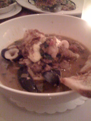 Seafood Soup at the Majestic