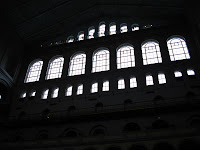 Some of the windows which literally tower over visitors.