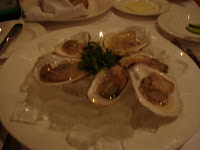 Corduroy First Course: Oysters on the Half Shell with Seaweed Salad