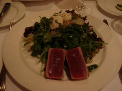Corduory Entree: Tuna Steak Nicoise