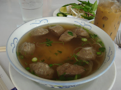 Beef meatball pho