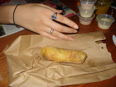 A deep fried Milky Way.  It doesn't look too exciting.