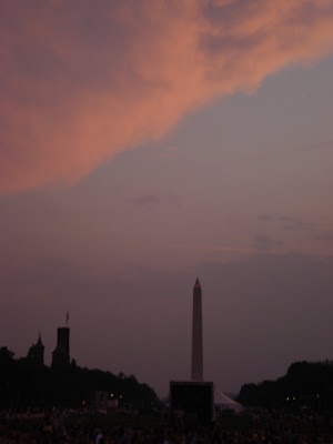 Sunset over Washington Monument