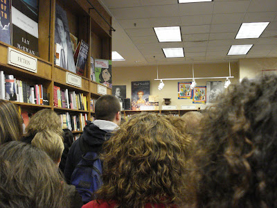 My view at Olsson's -- the backs of peoples' heads