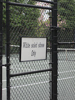 The White House Tennis Court: White-soled shoes only!