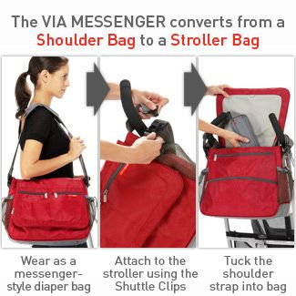 Diaper Bag Junkies: Skip Hop Via Messenger Diaper Bag wins BEST