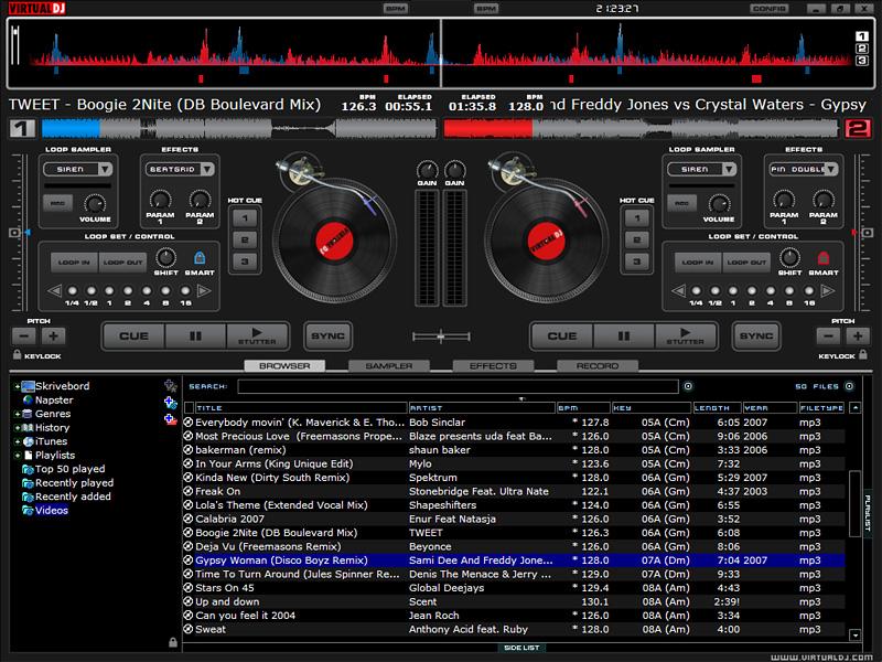 Wualdo dj virtual for Programa mesa de mezclas