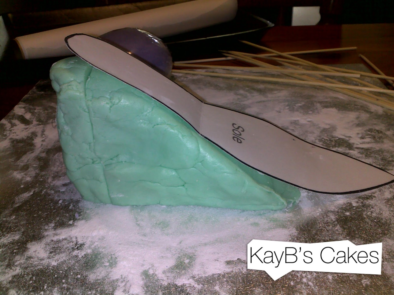 Shoe Mould For Cake Decorating