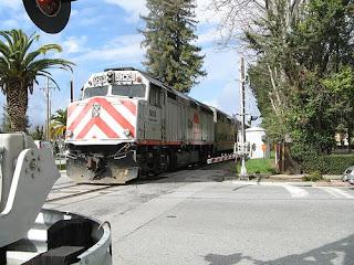 Caltrain in Menlo Park