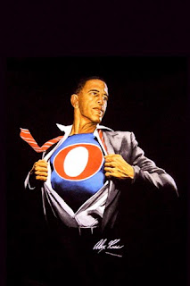 Obama as superhero