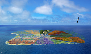 Artist's conception of Recycled Island