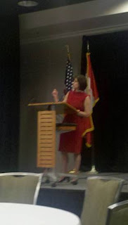 Kimberly Harris addressing the Future Energy Conference 11/10/10