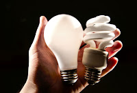 Incandescent bulbs giving way to compact fluorescent
