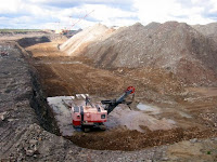 Oil shale surface mining