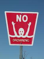 No Drowning sign