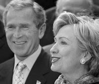 bush quietly advising hillary