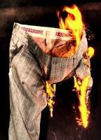 taser shock triggers fire in man's pants