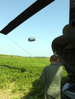 army chinook chopper lands in kentucky soybean field