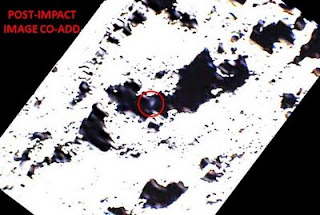 nasa: lunar pole-shot plume shows up in pictures