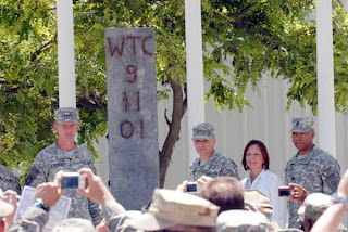 world trade center i-beam unveiled at bagram