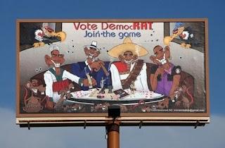 'bandit' obama billboard sparks storm in US city