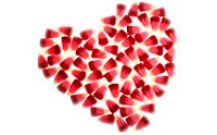 Сердце, конфеты