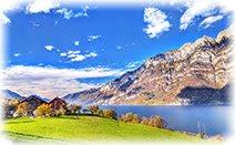 Швейцария, горы, озеро