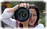 Женщина, фотограф, фотоаппарат