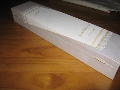 Caixa de madeira: pintura em renda