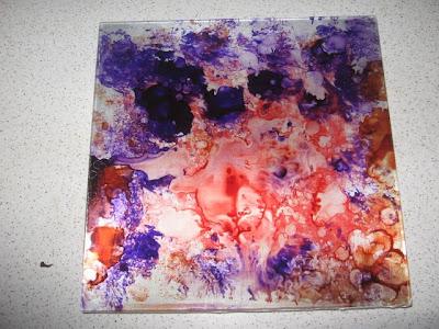 pintura  no vidro com verniz vitral