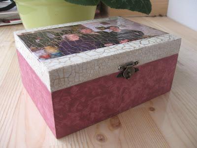 caixa com fotografia