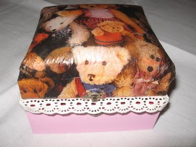 caixa de madeira em découpage italiana