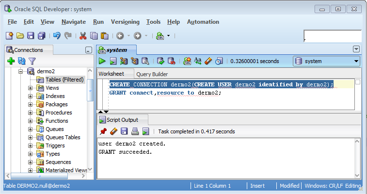 how to create new connection in sql developer