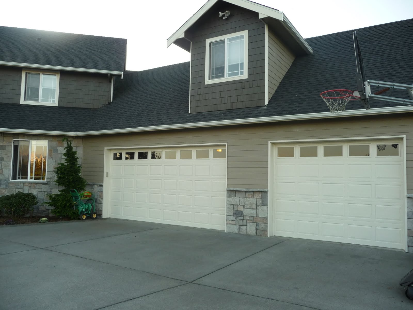 1200 #61604B The Garage Doors Look So Much Softer Now! We'd Like To Add Some Wide  image Walton Garage Doors 38131600