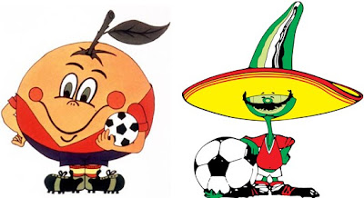World Cup mascots in Spain and Mexico
