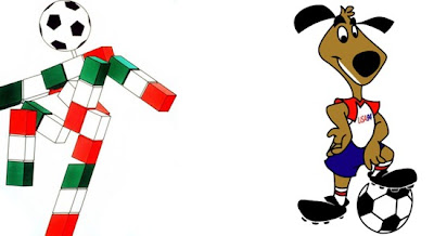 World Cup mascots in Italy and USA