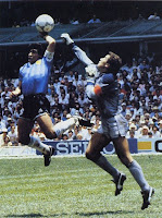 Hand of God goal by Diego Maradona