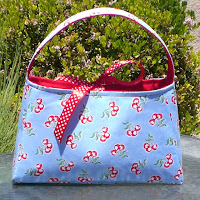 Cherries in Blue Purse by Burst of Happiness