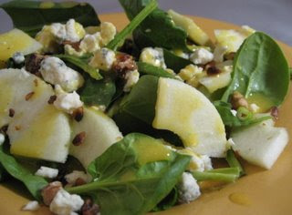 Spinach Salad with Apples and Mustard Vinaigrette